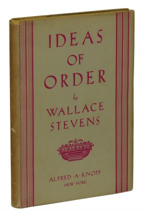 Ideas of Order. Wallace Stevens.