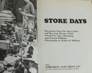 Store Days: Documents from The Store (1961) and Ray Gun Theater (1962)