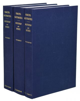 Principia Mathematica 3 Volume Set (v. 1-3). Alfred North Whitehead, Bertrand Russell