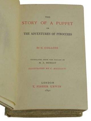 The Story of a Puppet or the Adventures of Pinocchio