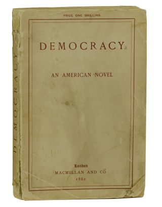 Democracy: An American Novel. Henry Adams