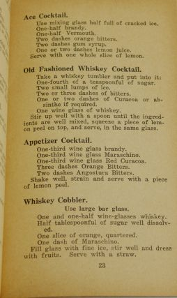 Lest We Forget: Mixed Drinks Manual