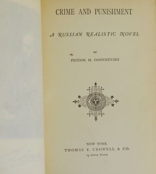 Crime and Punishment: A Russian Realistic Novel